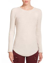 IRO | Natural Serena Ribbed Wool Sweater | Lyst