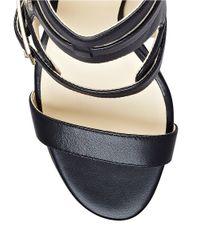 Ivanka Trump | Black Dolanu Leather Sandals | Lyst