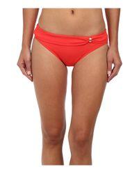 Lauren by Ralph Lauren | Pink Laguna Solids Sash Slider Hipster Bottom | Lyst