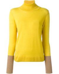Rag & Bone | Yellow Colour Block Turtleneck Sweater | Lyst
