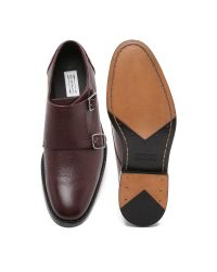 Uri Minkoff - Red Mansfield Double Monk Shoes for Men - Lyst