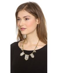 House of Harlow 1960 - Metallic Engraved Classic Station Necklace - Lyst