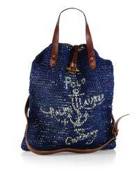 Polo Ralph Lauren | Blue Indigo Jute Bag for Men | Lyst