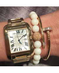 Anne Sisteron | White Buffalo Bone Stretch Bracelet With Laser Cut Ball | Lyst