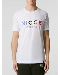 Nicce London - White Team Logo T-shirt for Men - Lyst