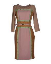 Roberta Di Camerino - Pink Short Dress - Lyst