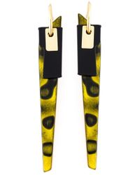 Wouters & Hendrix - Yellow 'playfully Precious' Earrings - Lyst