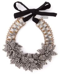 Night Market | Gray 'Deep Flower' Necklace | Lyst