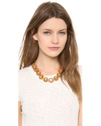 Tory Burch - Metallic Leah Short Necklace - Lyst