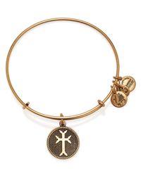 ALEX AND ANI | Metallic Armenian Cross Ii Expandable Wire Bangle | Lyst