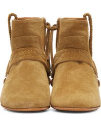 Isabel Marant - Natural Ochre Suede Harness Ralf Boots - Lyst