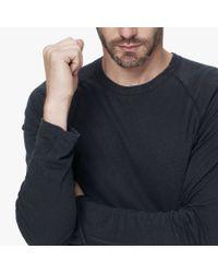 James Perse Black Linen Cotton Raglan for men