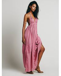 Free People | Pink Endless Summer Triangle Top Maxi | Lyst