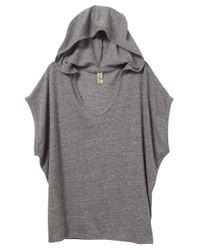 Alternative Apparel | Gray Sleeveless Eco-jersey Poncho | Lyst