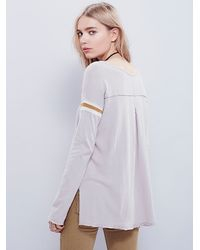 Free People - Gray We The Free Sidelines Tee - Lyst