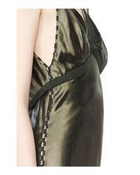 Alexander Wang - Green Satin Slip Dress - Lyst