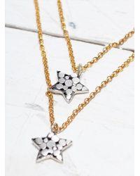 Peculiar Vintage - Metallic Lumi: Dual Star & Diamond Necklace - Last One - Lyst