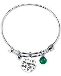 Disney - Metallic Tinkerbell Dreaming Of You Bangle Bracelet In Sterling Silver - Lyst