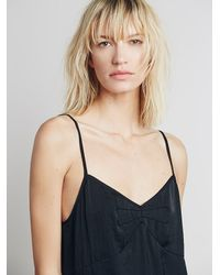Free People - Black Basic Satin Slip - Lyst