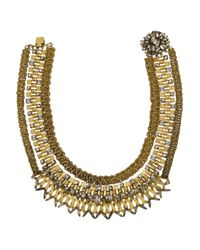 Erickson Beamon | Metallic Gold-Plated Swarovski Crystal Necklace | Lyst