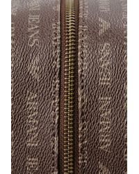 Armani Jeans - Brown Case in Faux Leather with All-over Logo for Men - Lyst