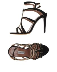 Tabitha Simmons - Black Sandals - Lyst