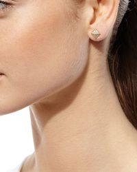 Anita Ko | Metallic Pyramid Diamond Stud Earrings | Lyst