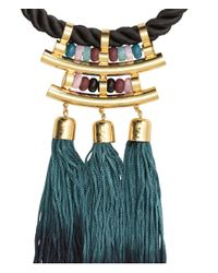 H&M | Black Necklace With Tassels | Lyst