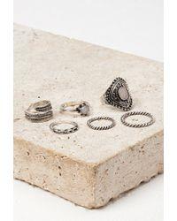 Forever 21 | Metallic Faux Stone Midi Ring Set | Lyst