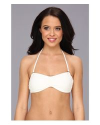Volcom   White Options Open Bandeau Top   Lyst