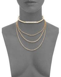 Saks Fifth Avenue - Metallic Multi-strand Chain Choker Necklace - Lyst