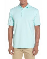 Peter Millar | Blue 'jubilee Stripe' Moisture Wicking Stretch Jersey Golf Polo for Men | Lyst