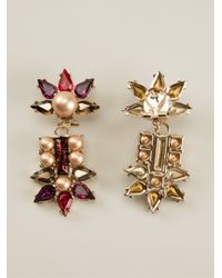 Anton Heunis - Natural Fan Shape Crystal Cluster Drop Earrings - Lyst