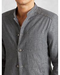 John Varvatos - Gray Linen Officer Jacket for Men - Lyst
