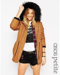 ASOS - Brown Parka In Cocoon Fit - Lyst