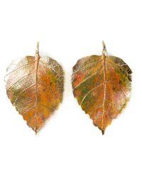 Aurelie Bidermann   Metallic 'Central Park' Patine Earrings   Lyst