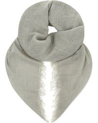 Faliero Sarti - Gray Lolly Cashmere And Silk-blend Scarf - Lyst