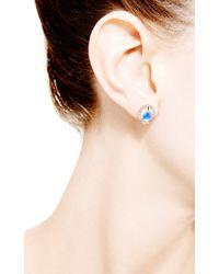 Dana Rebecca | Blue Emma Harper Oval Earrings in 14k Rose Gold | Lyst