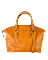 Cole Haan | Orange Rockland Leather Satchel | Lyst