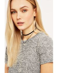 Urban Outfitters - Black Multi-row Pearl Choker Necklace - Lyst