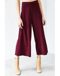 Silence + Noise | Purple Modern Crepe Culotte Pant | Lyst