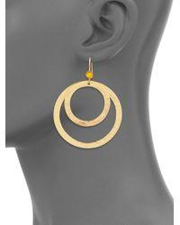 Stephanie Kantis - Metallic Paris Citrine Double Hammered Hoop Earrings - Lyst