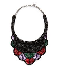 Valentino | Multicolor Crystal Embellish Satin Backing Choker | Lyst