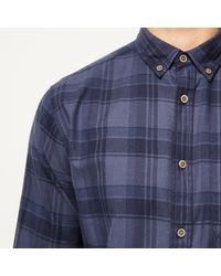 River Island - Blue Only & Sons Check Shirt for Men - Lyst