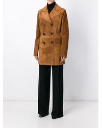 Marni - Natural Double Breasted Coat - Lyst