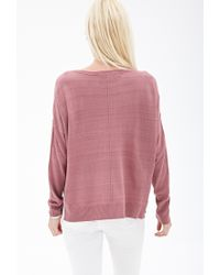 Forever 21 - Pink Inverted Seam Knit Sweater - Lyst