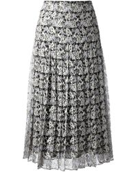 Christopher Kane | Gray Embroidered Skirt | Lyst