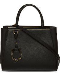 Fendi - Black 2jours Mini Leather Tote - Lyst