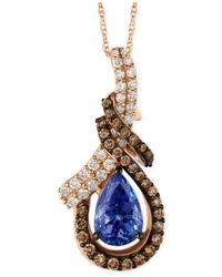 Le Vian | Blueberry Tanzanite (1-1/5 Ct. T.w.) And Diamond (9/10 Ct. T.w.) Pendant Necklace In 14k Rose Gold | Lyst