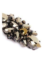 Erickson Beamon - Metallic 'golden Rule' Crystal Cluster Earrings - Lyst